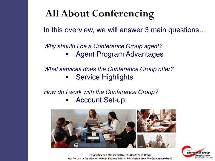 All about conferencing