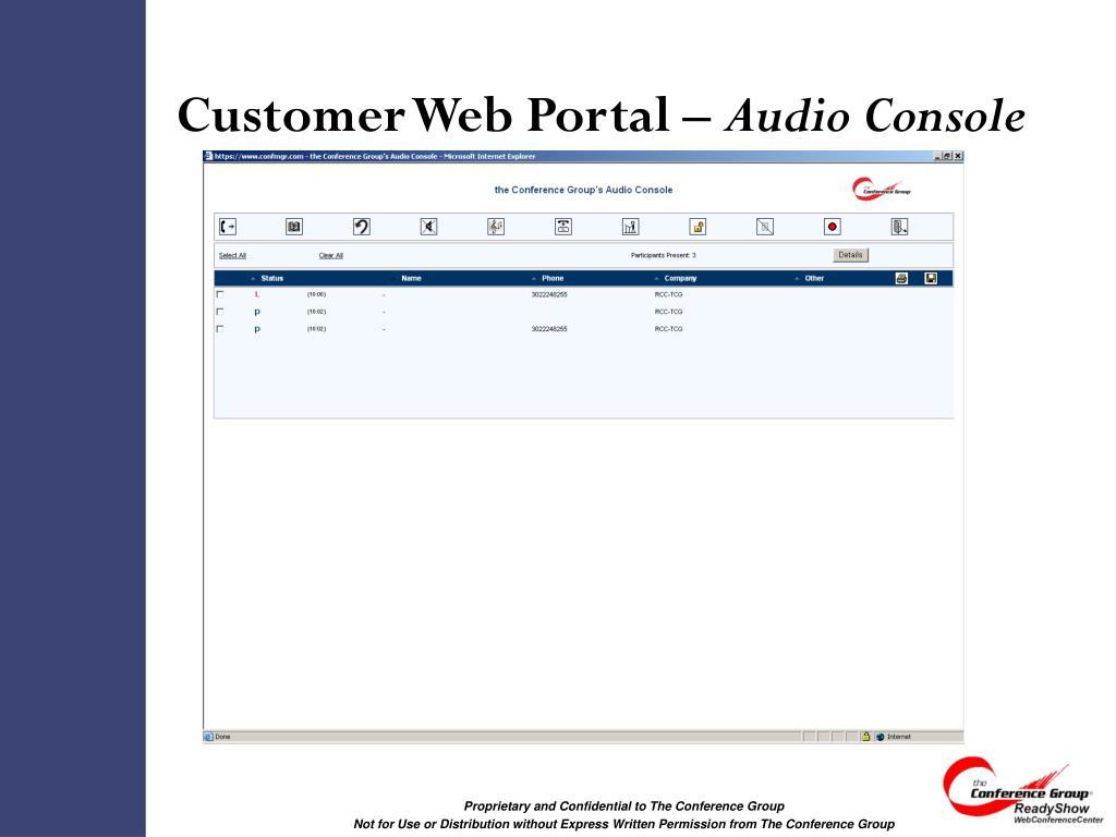 Customer Web Portal –