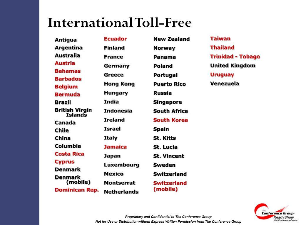 International Toll-Free