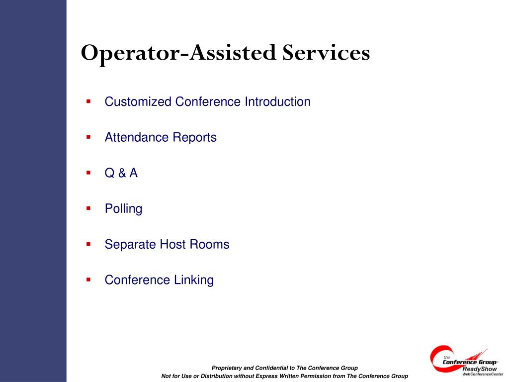 Operator-Assisted Services