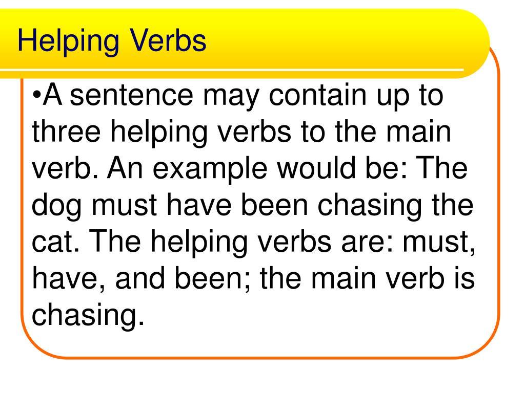 Helping Verbs