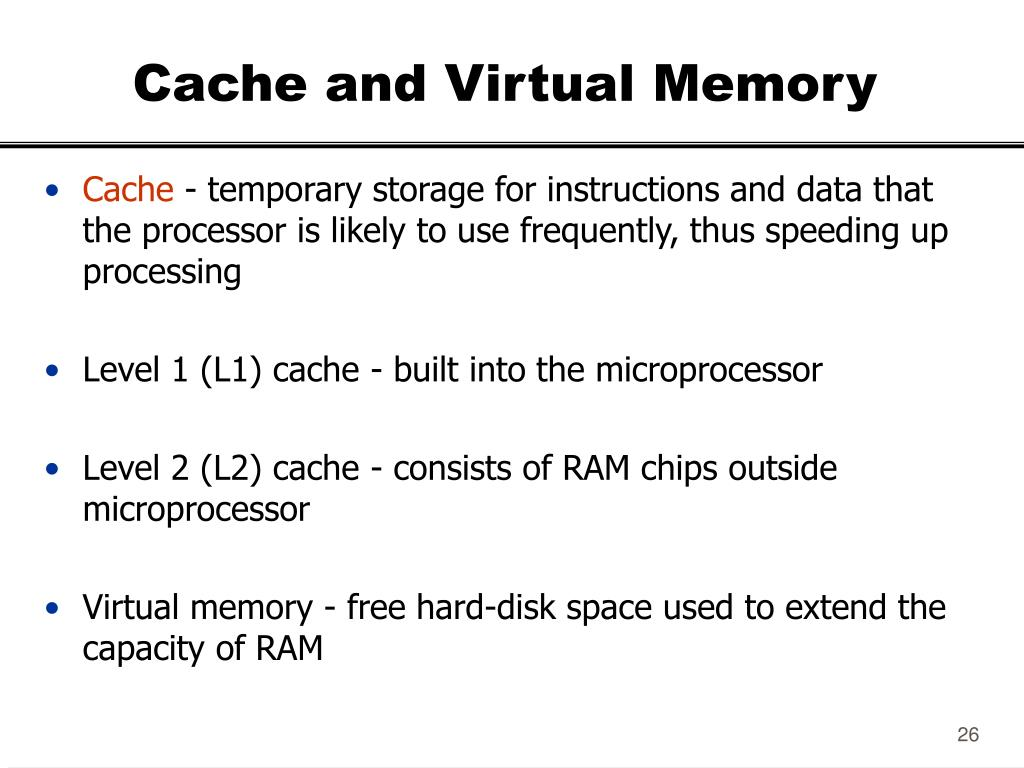 Cache and Virtual Memory