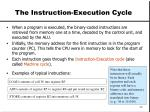 the instruction execution cycle