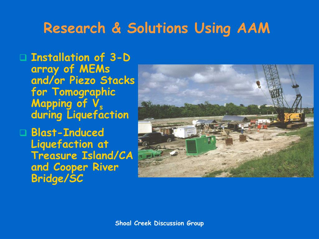 Research & Solutions Using AAM