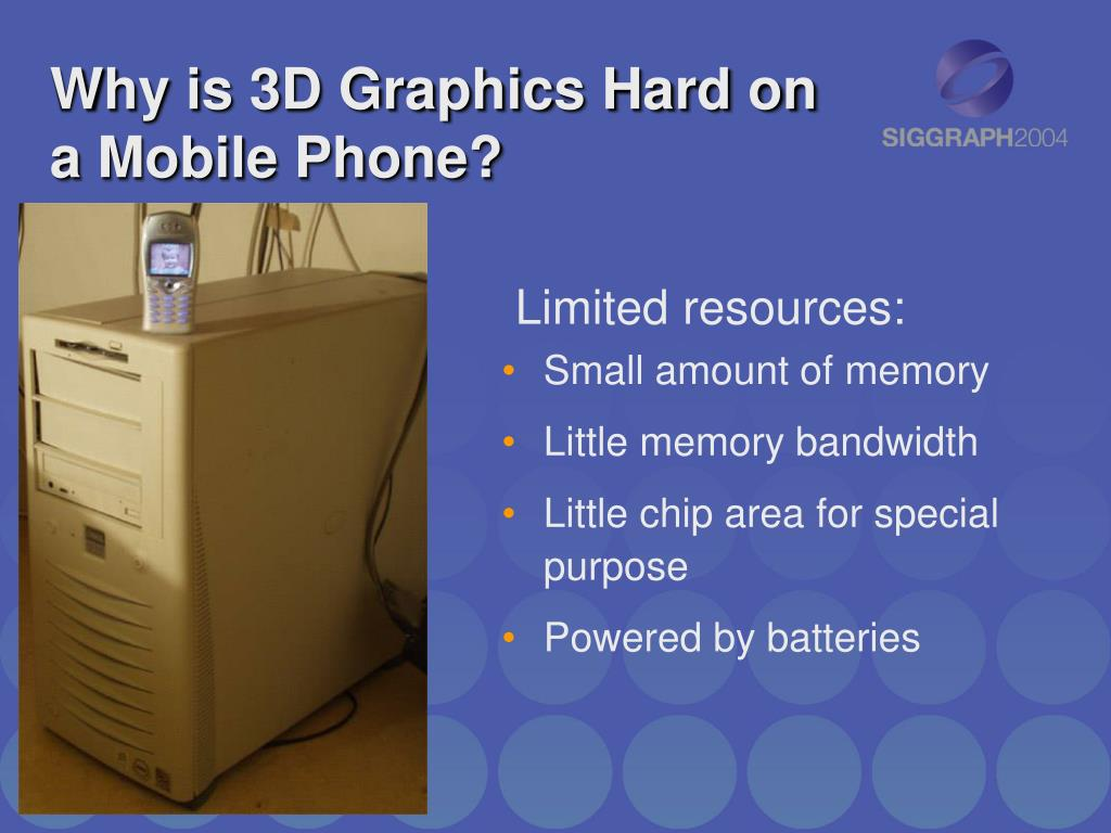 Why is 3D Graphics Hard on a Mobile Phone?