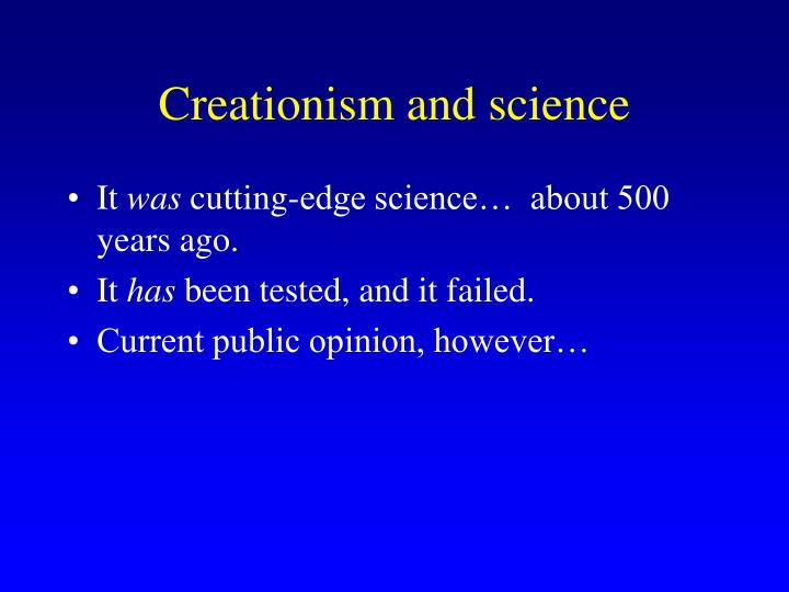 Creationism and science