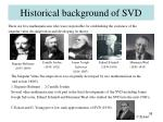 historical background of svd
