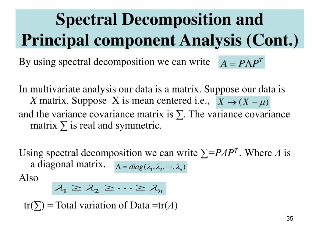 Spectral Decomposition and