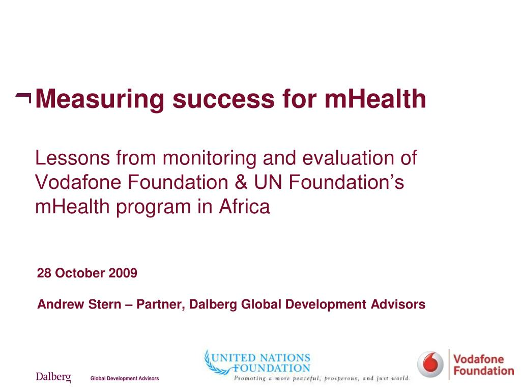 Measuring success for mHealth