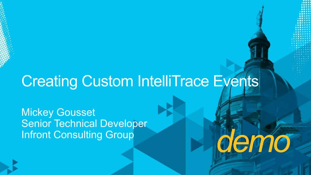 Creating Custom IntelliTrace Events