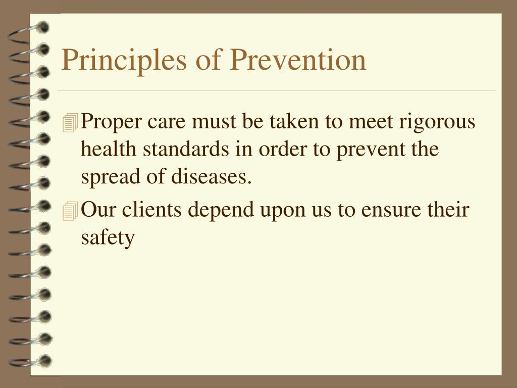 the principles of infection prevention and control The national quality month seminar on infection prevention and control in   principles the following policy principles will apply: 81 prevention: every effort.