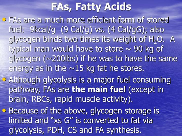 FAs, Fatty Acids
