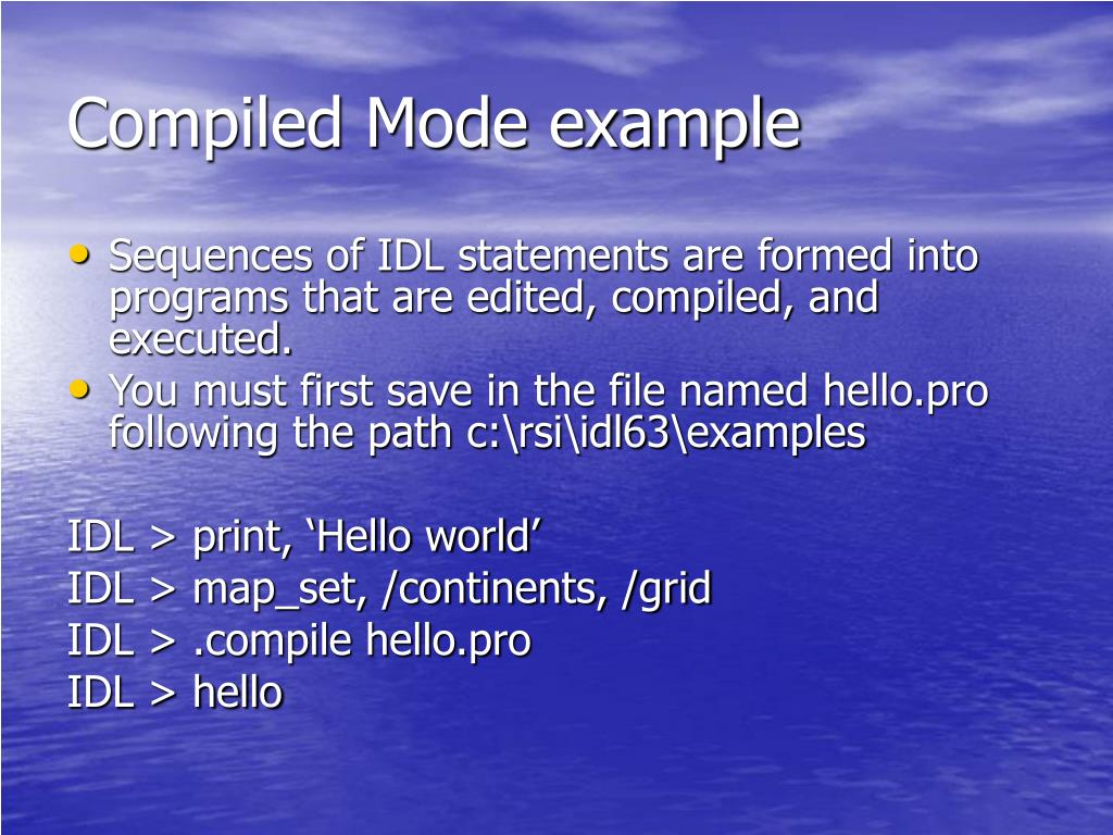 Compiled Mode example