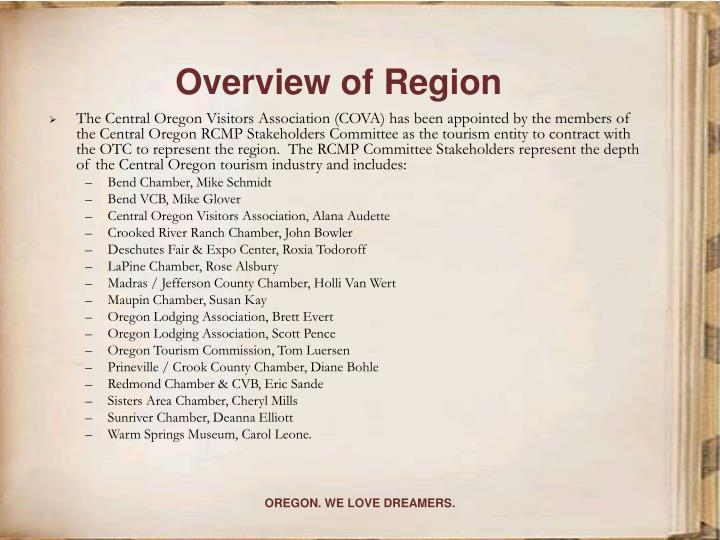 Overview of region3