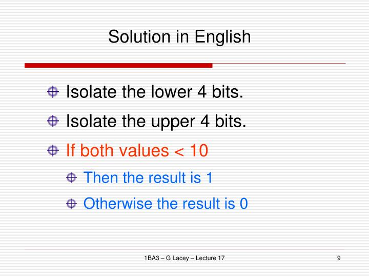 Solution in English
