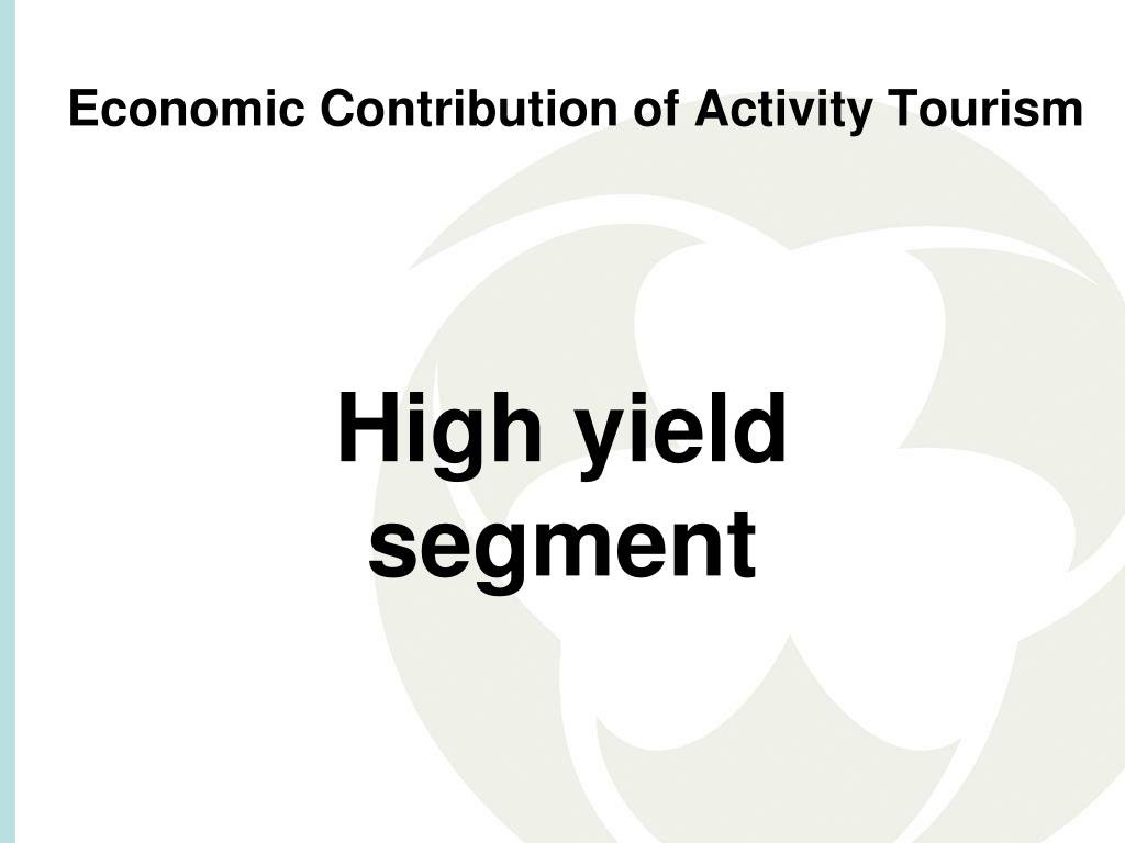 Economic Contribution of Activity Tourism