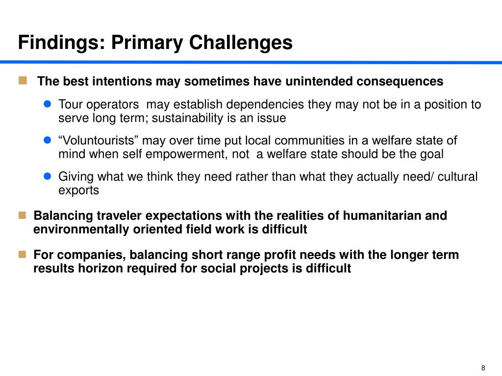 Findings: Primary Challenges