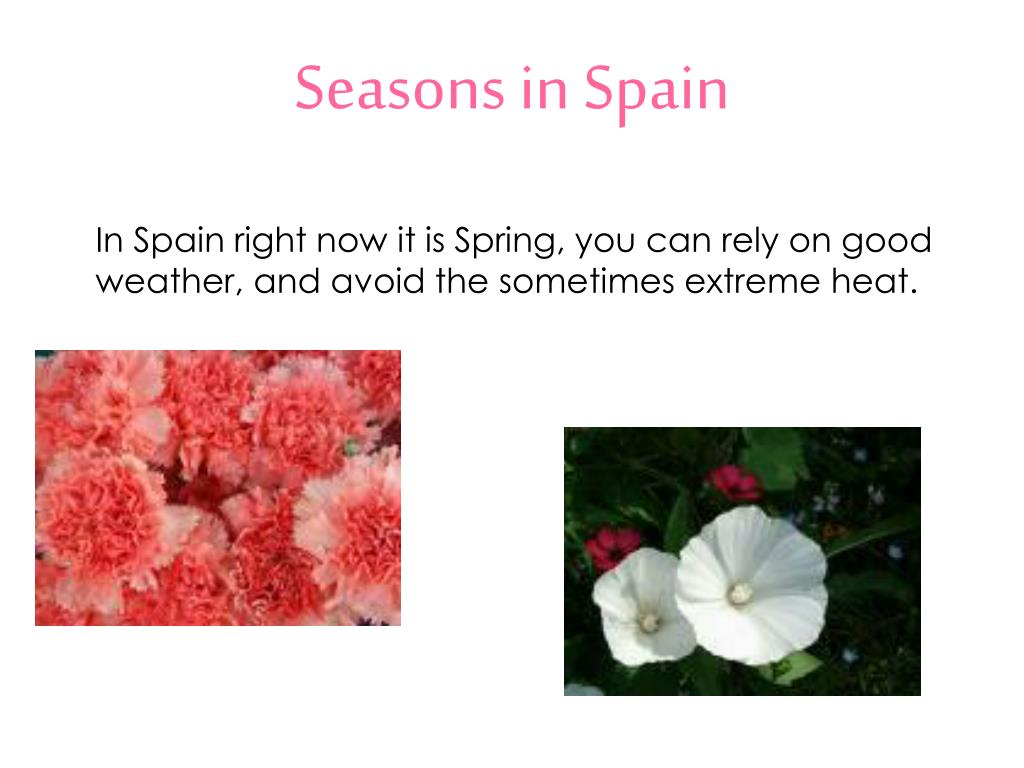 Seasons in Spain