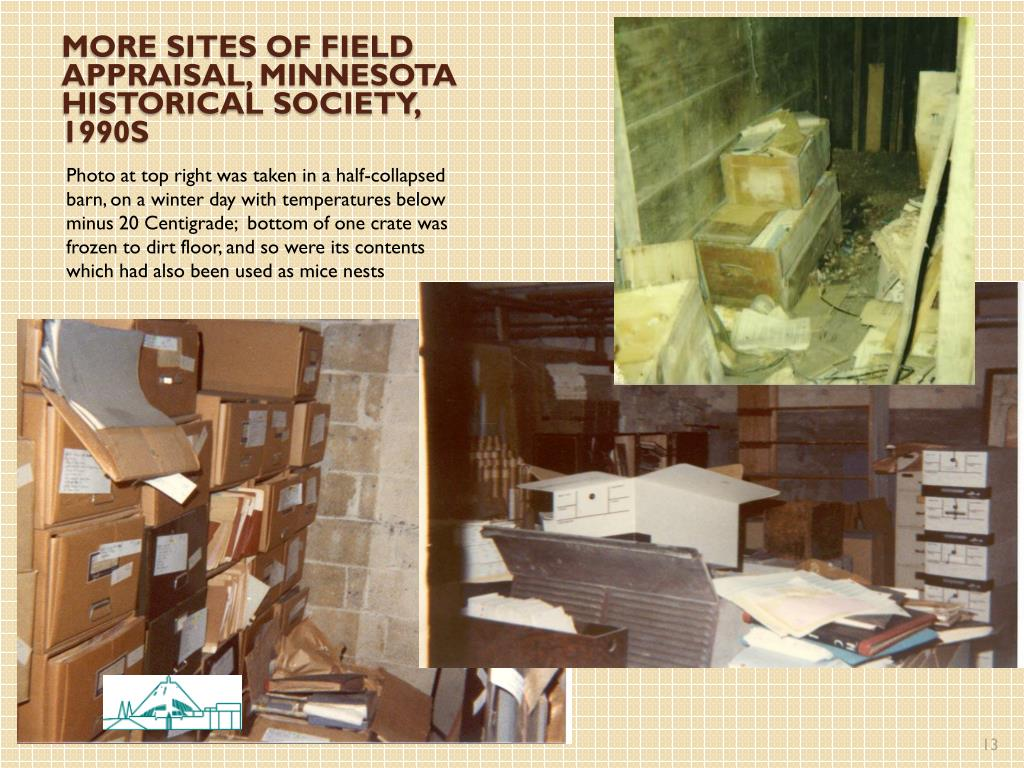 More sites of field appraisal, Minnesota historical society, 1990s