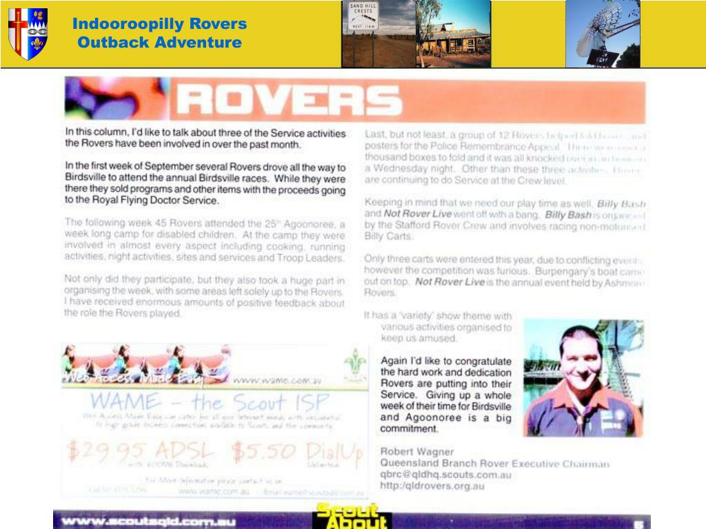 Indooroopilly Rovers Outback Adventure