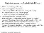 statistical reasoning probabilistic effects