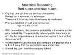 statistical reasoning red buses and blue buses