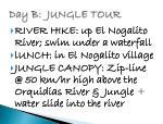 day b jungle tour