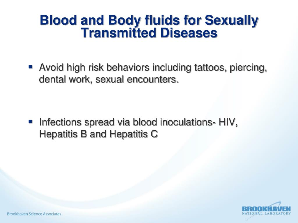 Blood and Body fluids for Sexually Transmitted Diseases