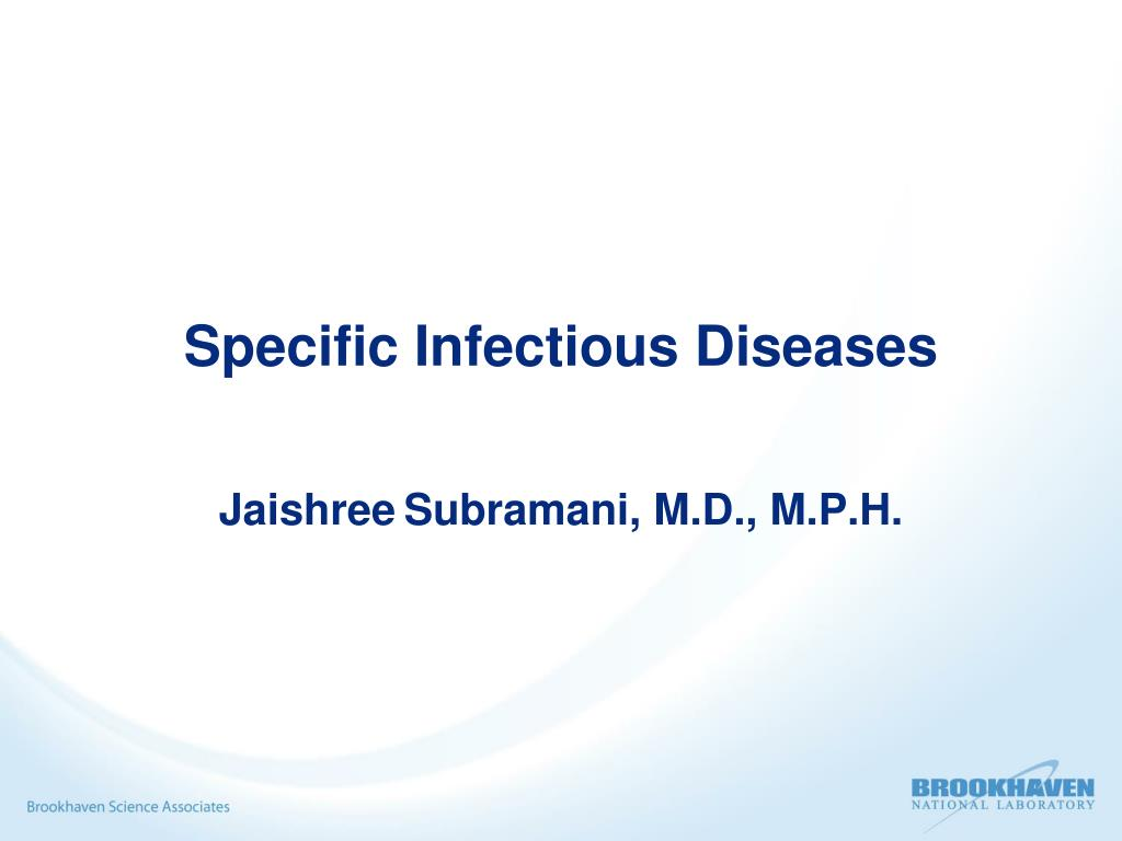 Specific Infectious Diseases