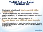 the bnl business traveler post travel tips