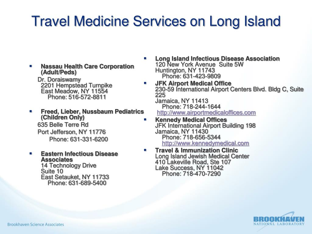 Travel Medicine Services on Long Island