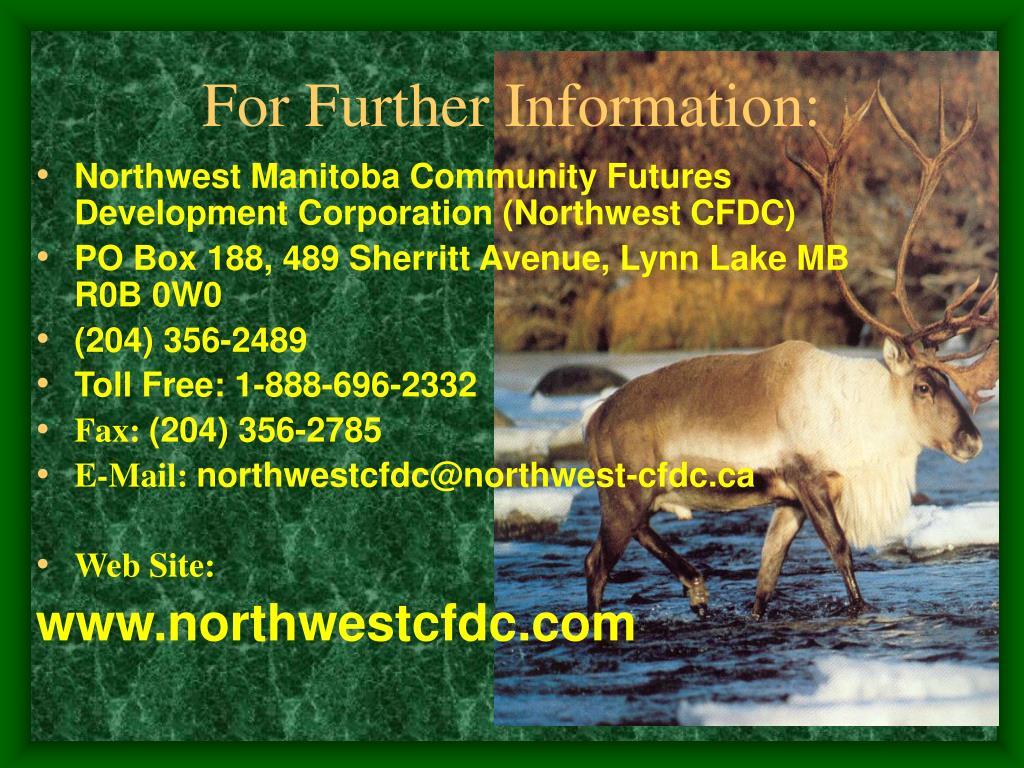 Northwest Manitoba Community Futures Development Corporation (Northwest CFDC)