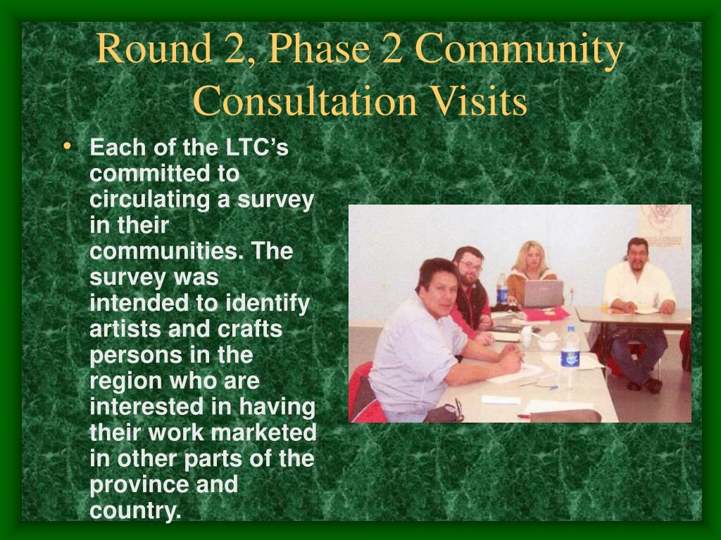 Round 2, Phase 2 Community Consultation Visits