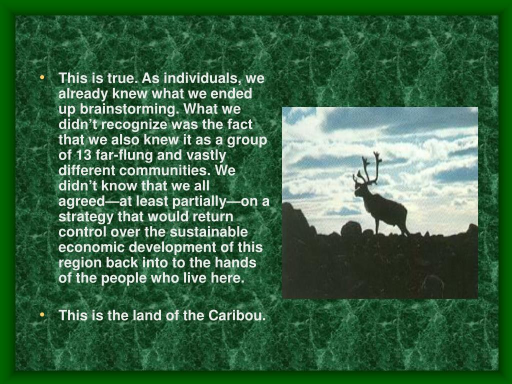 This is true. As individuals, we already knew what we ended up brainstorming. What we didn't recognize was the fact that we also knew it as a group of 13 far-flung and vastly different communities. We didn't know that we all agreed—at least partially—on a strategy that would return control over the sustainable economic development of this region back into to the hands of the people who live here.
