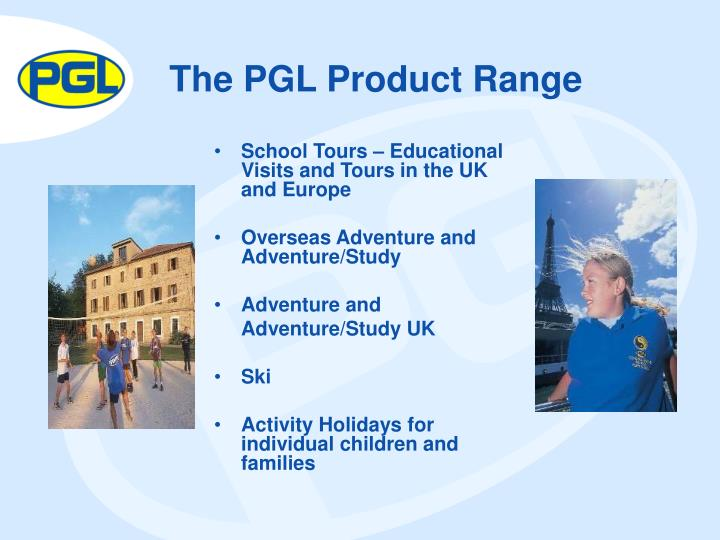 The pgl product range