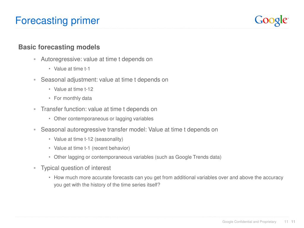 Forecasting primer