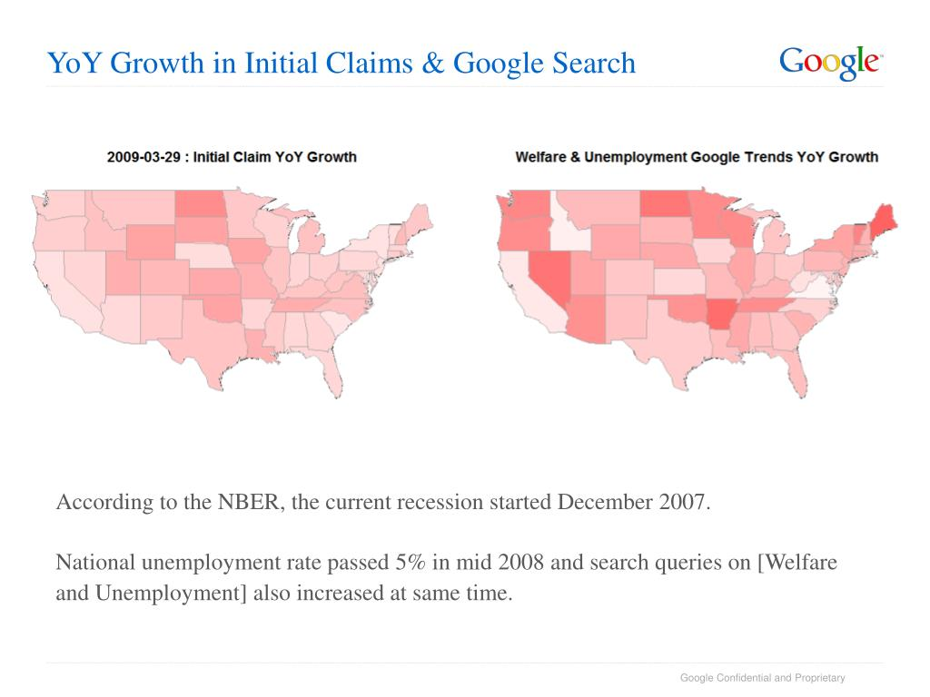 YoY Growth in Initial Claims & Google Search