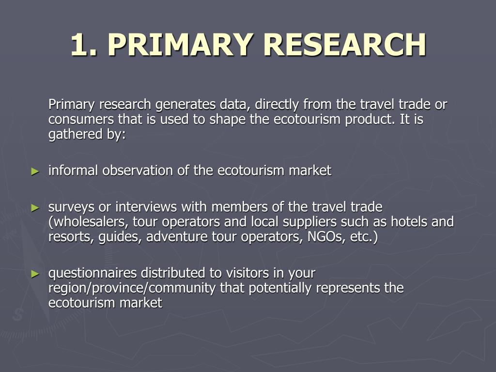 1. PRIMARY RESEARCH