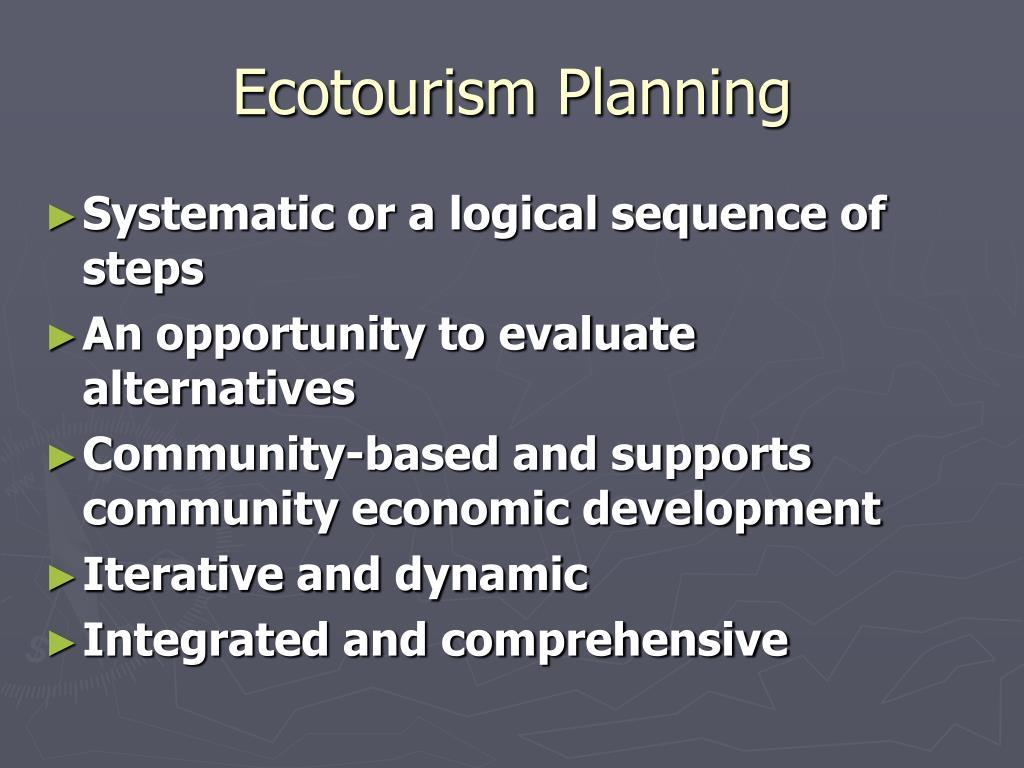 Ecotourism Planning