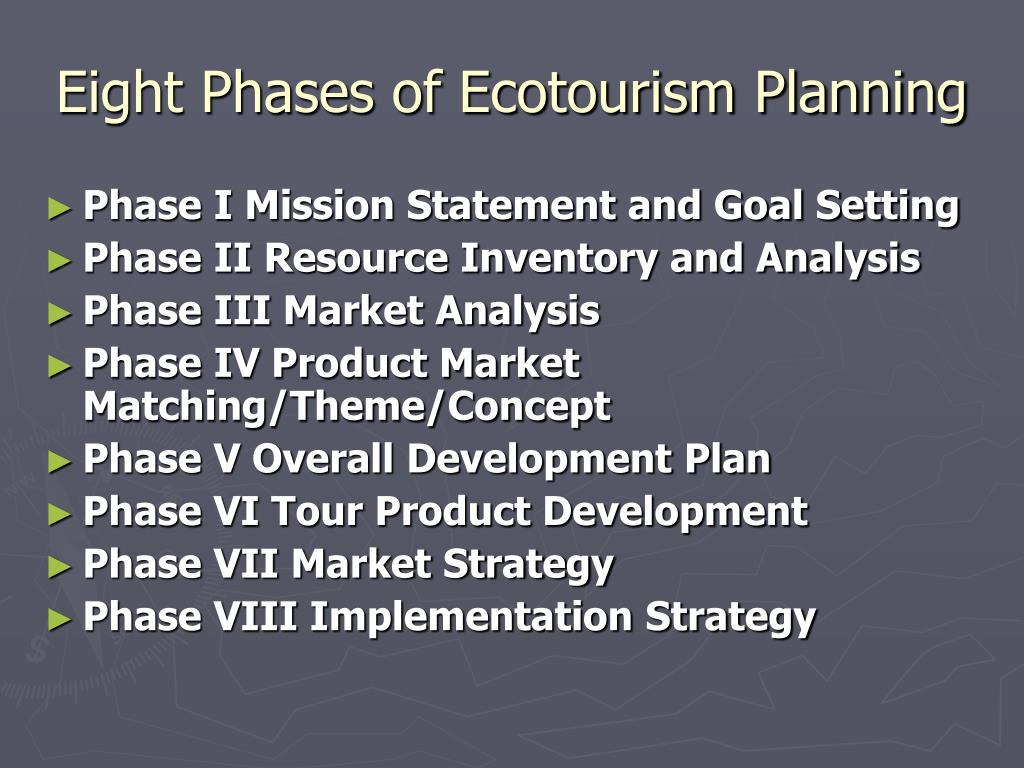 Eight Phases of Ecotourism Planning