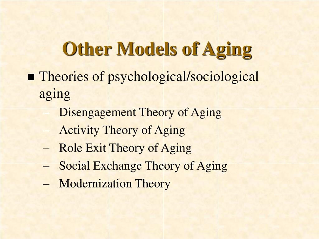 role exit theory of aging Behavioral and psychological aspects of the in addition to the financial and health aspects of the retirement decision in social structures, aging.