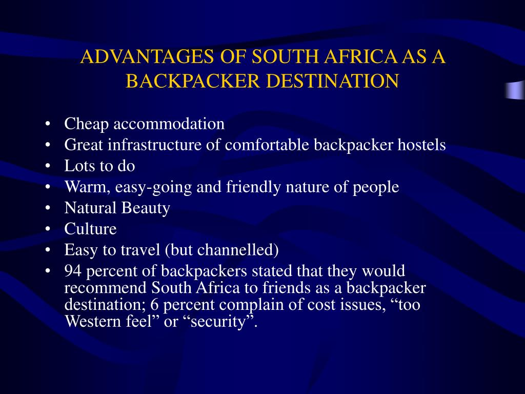 ADVANTAGES OF SOUTH AFRICA AS A BACKPACKER DESTINATION