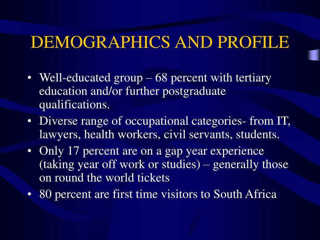 DEMOGRAPHICS AND PROFILE