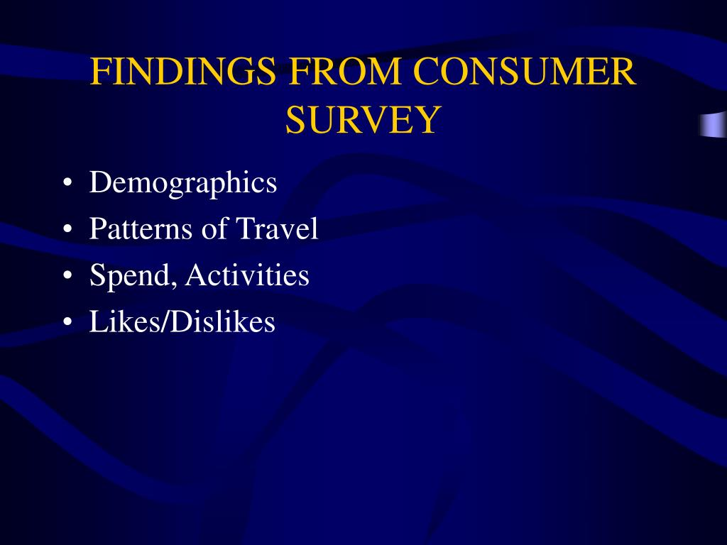 FINDINGS FROM CONSUMER SURVEY