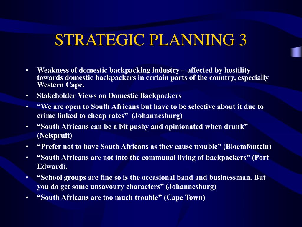 STRATEGIC PLANNING 3
