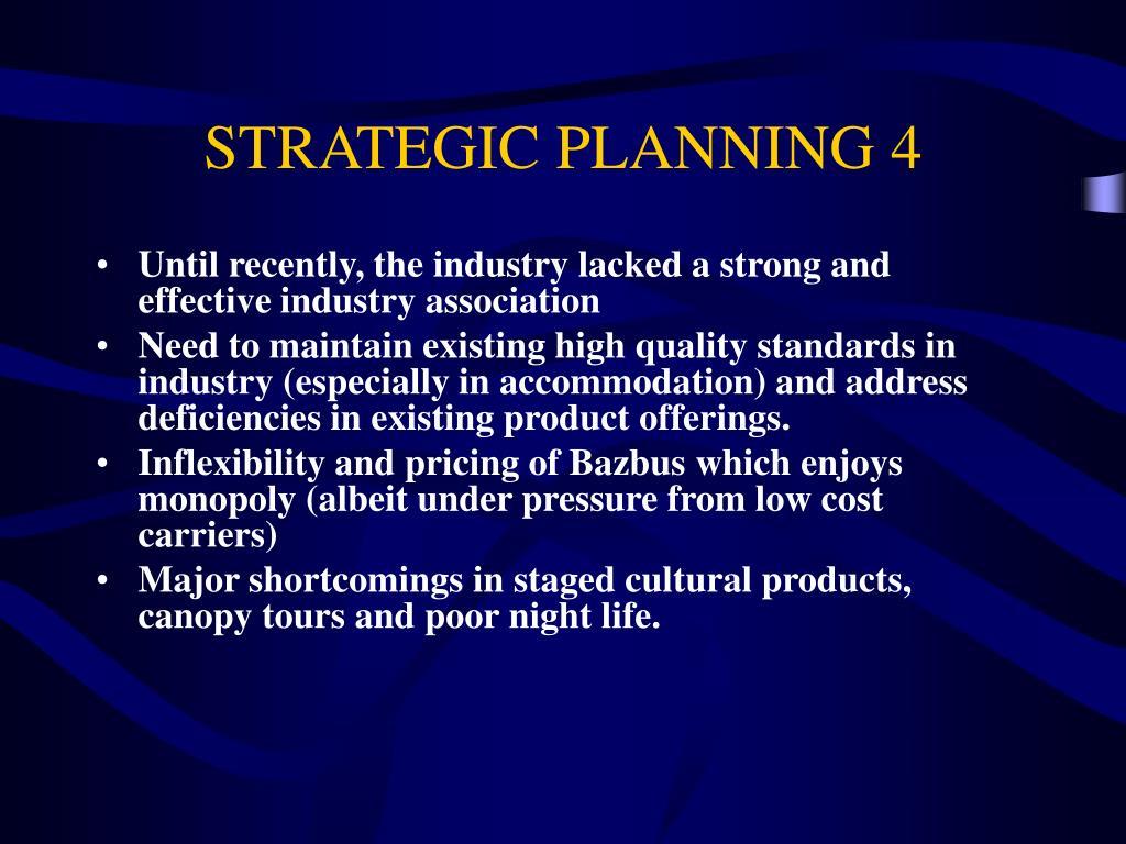 STRATEGIC PLANNING 4