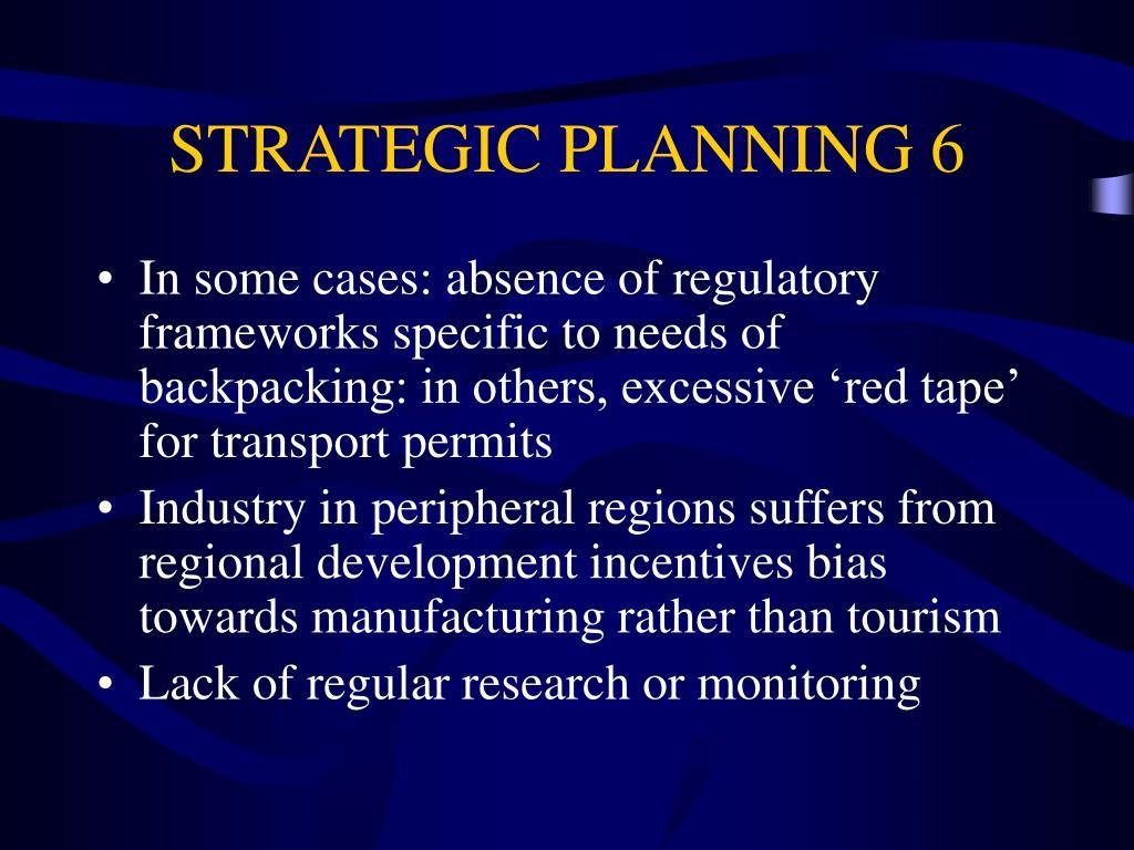 STRATEGIC PLANNING 6