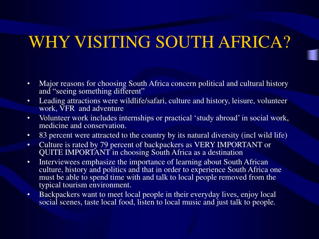 WHY VISITING SOUTH AFRICA?