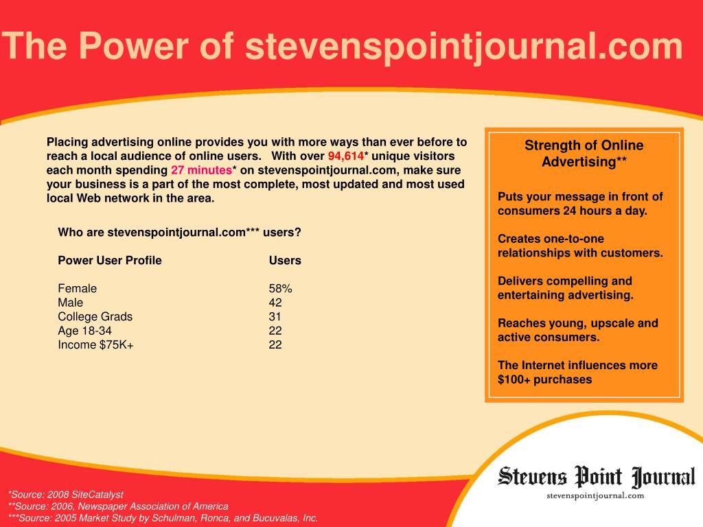 The Power of stevenspointjournal.com