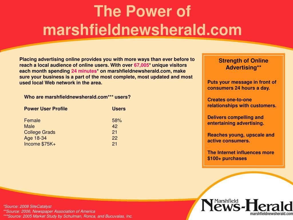 The Power of marshfieldnewsherald.com